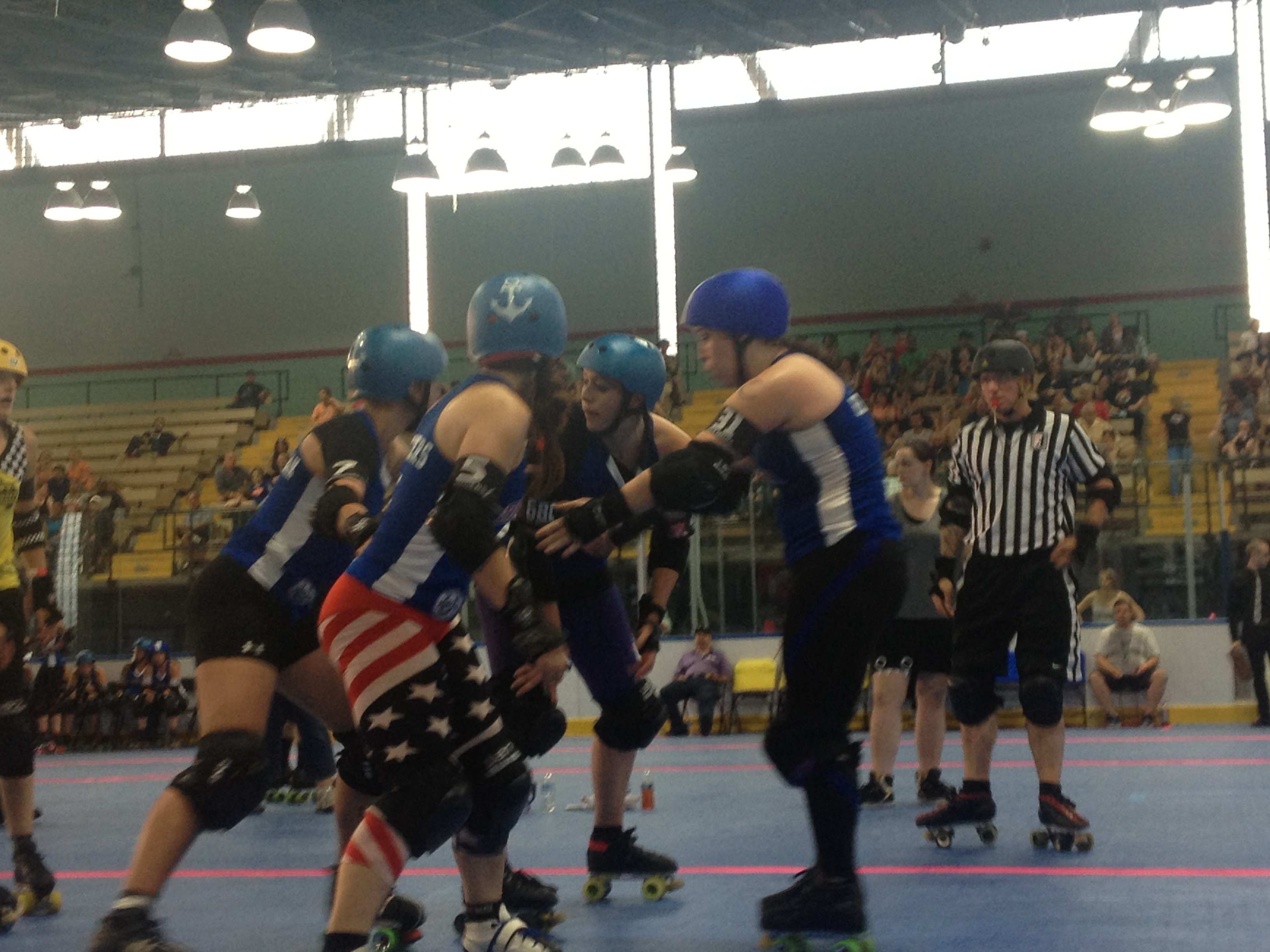 Coney Island Roller Derby.  We rooted for Brooklyn.  Naturally.