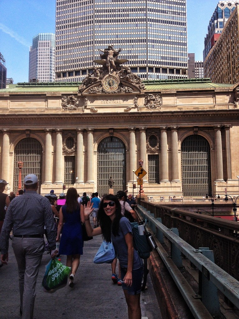 Walking around Grand Central - which is really a pretty amazing building.