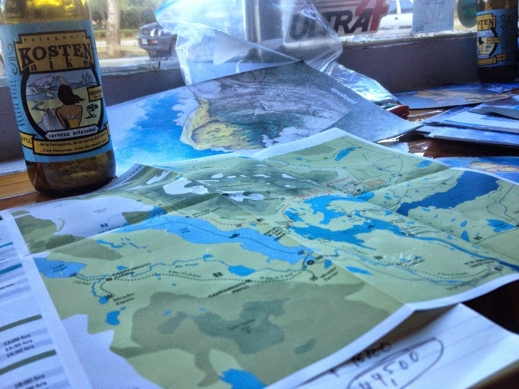 Beer and maps.  Always a good combination.