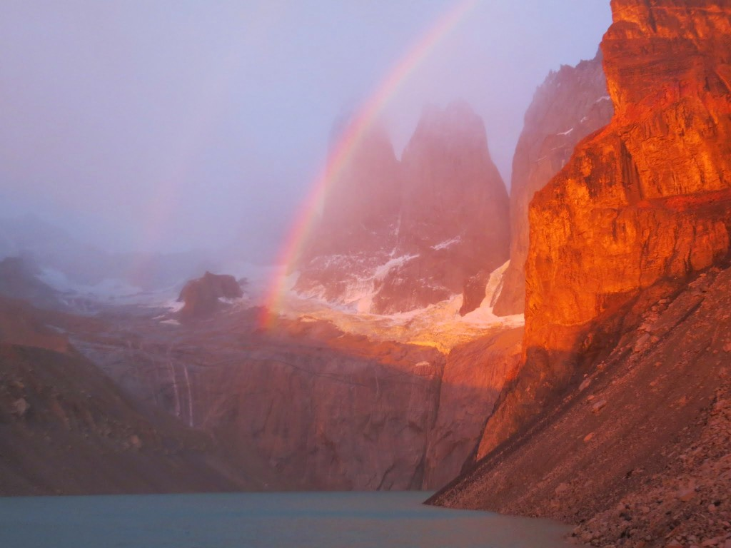 Some people get clear mornings at Los Torres. Some people get double rainbows.