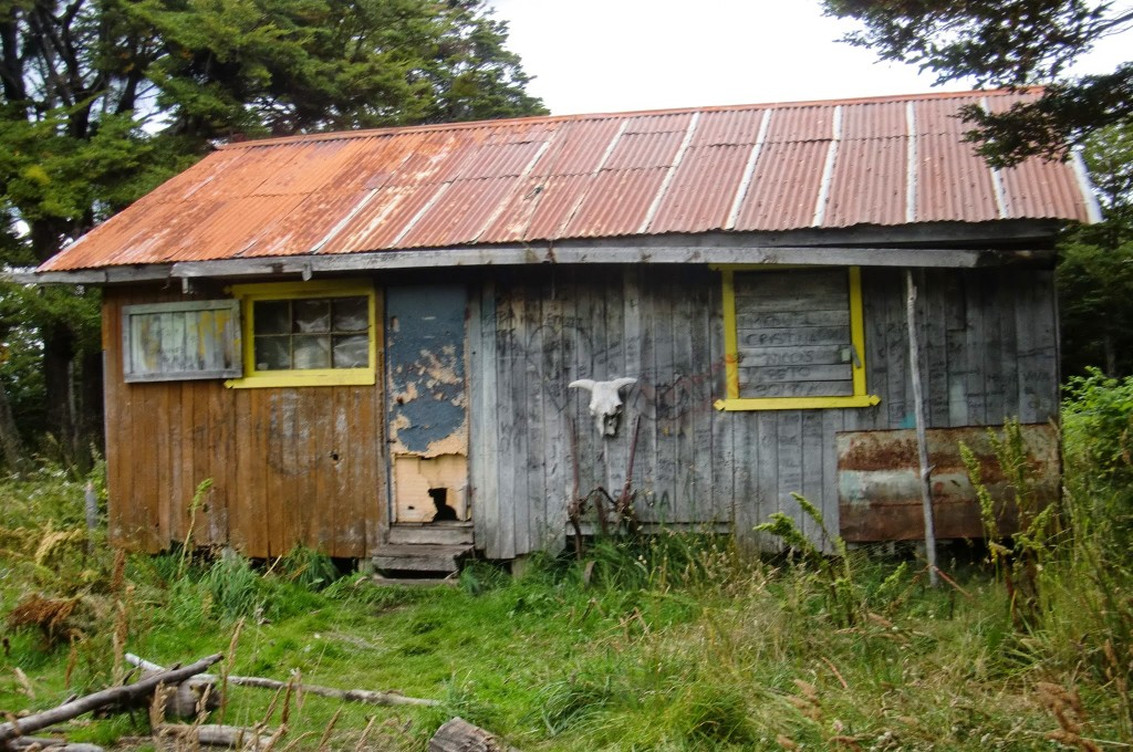 An old homesteader shack we got refuge from the rain our first night.