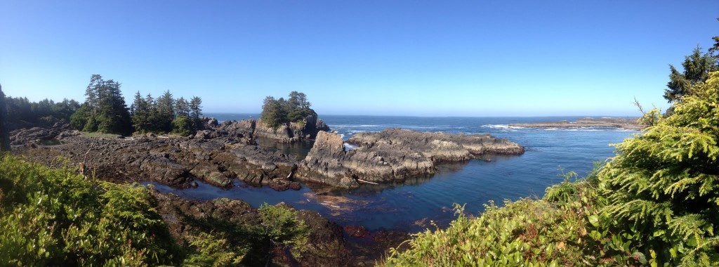 Beach hike in Ucluelet
