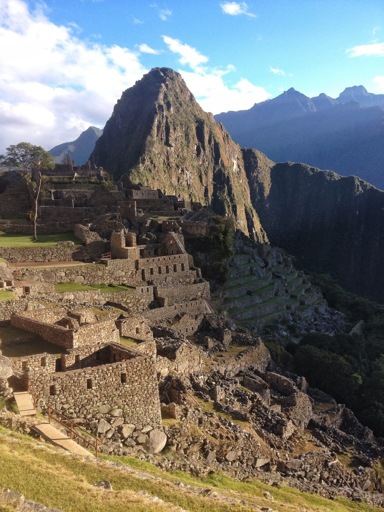 Our trek took us down the mountains into the jungle towards Machu Picchu.  During the last day of the trek, we spent the day exploring the site.  Even though it was my second time there, it never stops being amazing.