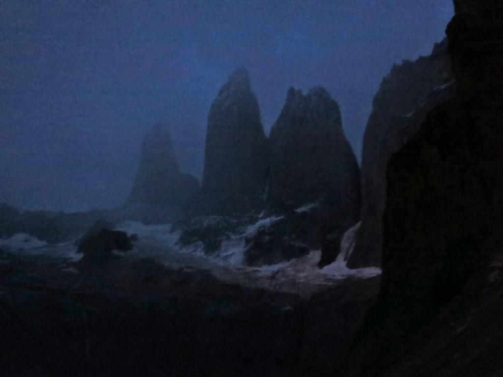 Los Torres before sunrise