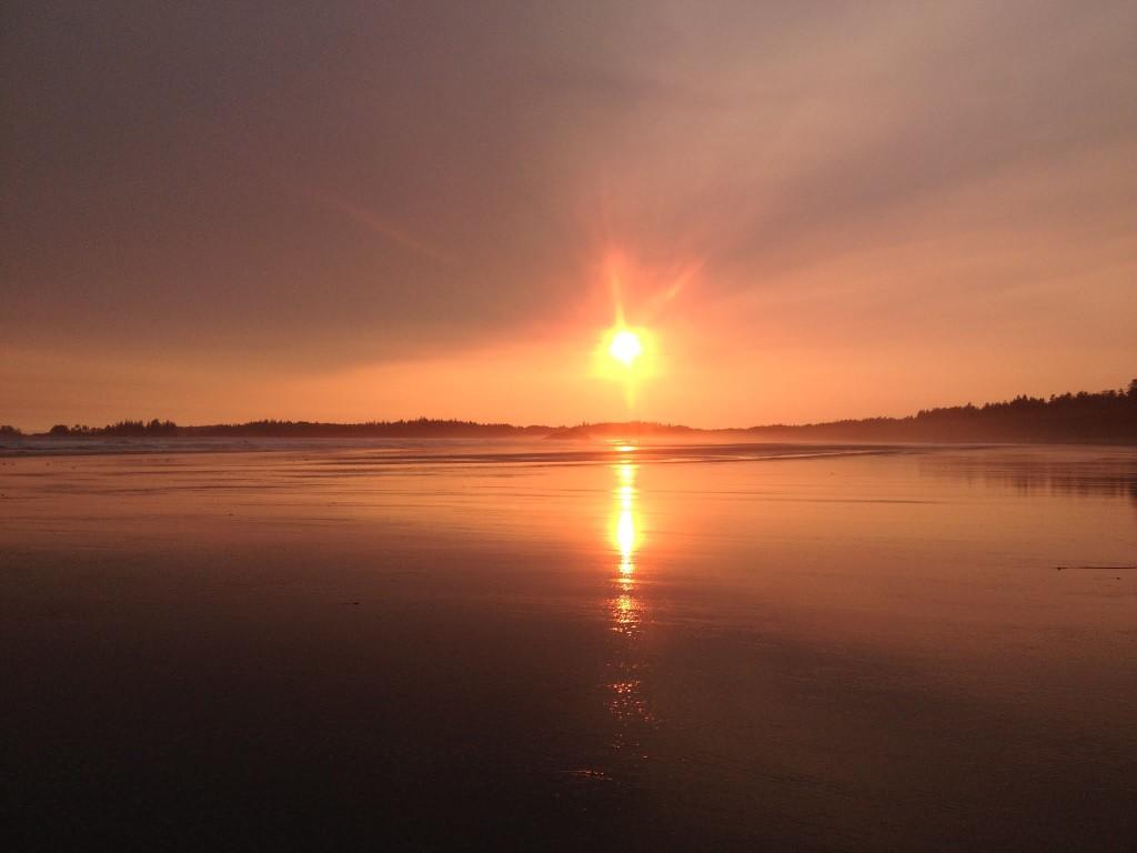 My last sunset on the beach