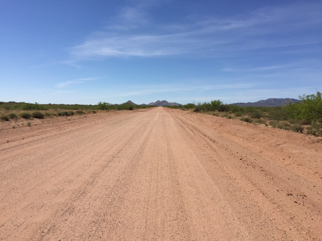 Dirt roads for miles